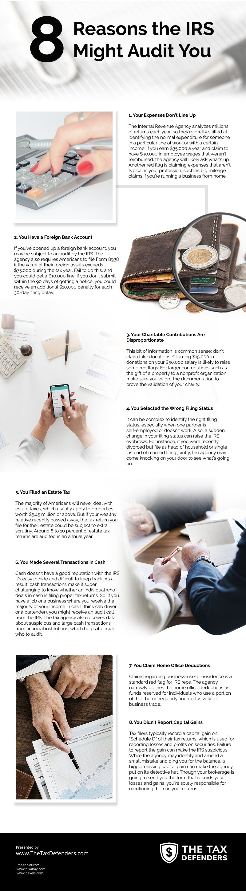 8 Reasons the IRS Might Audit You [infographic]